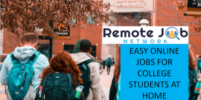 Easy Online Jobs for College Students at Home